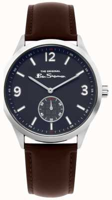 Ben Sherman Reloj de cuero marrón para hombre | BS020BR