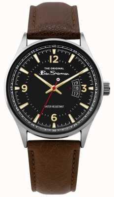 Ben Sherman | Reloj de cuero marrón para hombre | esfera negra | BS008BR
