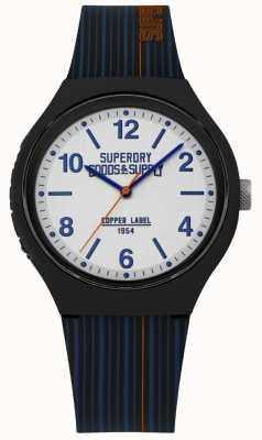 Superdry | correa de silicona navy | esfera plateada | SYG252U