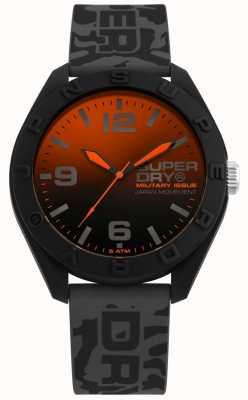 Superdry | osaka | correa de silicona camo gris | dial blackorange | SYG242E