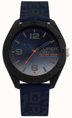 Superdry | osaka | correa de silicona camo azul | esfera azul | SYG242U