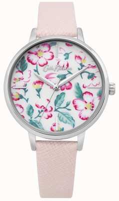 Cath Kidston | reloj de escalada para mujer | cuero rosa | esfera floral CKL069P