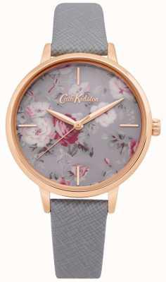 Cath Kidston | reloj manojo mujer brampton | correa de cuero gris | CKL069ERG