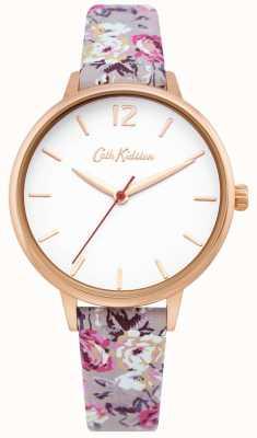 Cath Kidston El | reloj de jardín para mujer | esfera blanca | correa de cuero floral | CKL067ERG