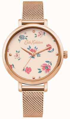 Cath Kidston | reloj ditsy brampton para mujer | pulsera de malla de oro rosa | CKL079RGM