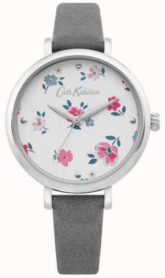 Cath Kidston | reloj ditsy brampton para mujer | correa de cuero gris | CKL079E