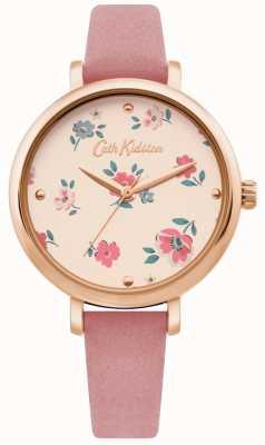 Cath Kidston | reloj ditsy brampton para mujer | correa de cuero rosa | CKL079PRG