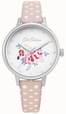Cath Kidston | reloj de mujer suerte manojo | lunares de cuero rosa | CKL070P