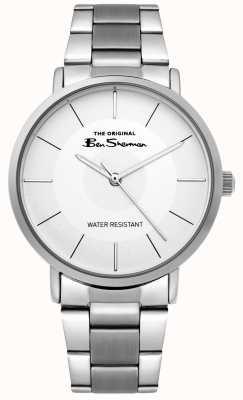 Ben Sherman | reloj de escritura para hombre | pulsera de acero inoxidable | esfera blanca BS014SM
