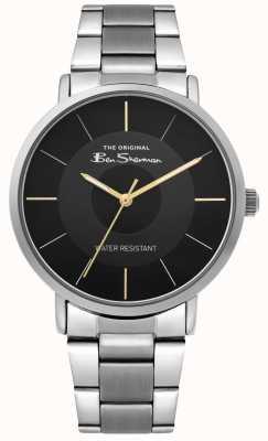 Ben Sherman | reloj de escritura para hombre | pulsera de acero inoxidable | esfera negra BS014BSM