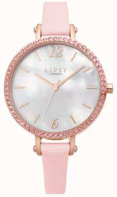 Lipsy | correa de cuero rosa para mujer | esfera blanca | LP650
