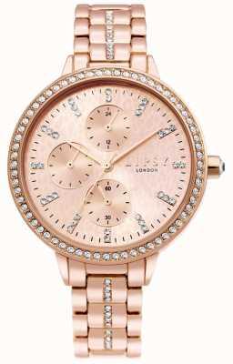 Lipsy | pulsera de acero rosa dorado para mujer | esfera de oro rosa | LP630