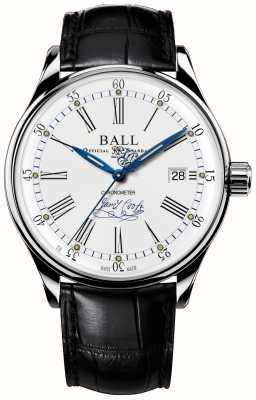 Ball Watch Company Trainmaster Endeavor Cronómetro piel edición limitada. NM3288D-LL2CJ-WH