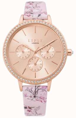 Lipsy | correa floral rosa para mujer | esfera de oro rosa | LP648