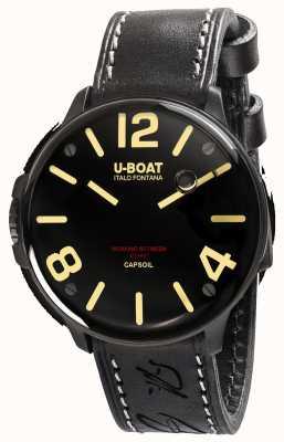 U-Boat Capsoil dlc electromechanics correa de cuero negro 8108/A