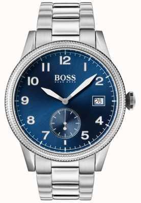 Hugo Boss | reloj legado para hombre | acero inoxidable | esfera azul | 1513707