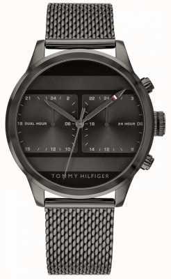 Tommy Hilfiger | reloj de malla negro para hombre | 1791597