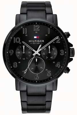 Tommy Hilfiger | reloj para hombre negro daniel | 1710383