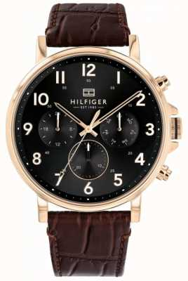 Tommy Hilfiger | reloj daniel de cuero marrón para hombre | 1710379