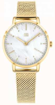 Tommy Hilfiger reloj lirio de malla dorada para mujer | 1782043