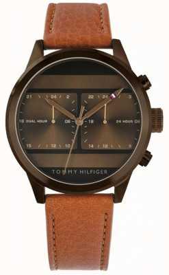 Tommy Hilfiger El | reloj con correa de cuero marrón para hombre | 1791594