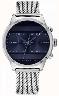 Tommy Hilfiger El | reloj de malla de acero inoxidable para hombre | esfera azul | 1791596