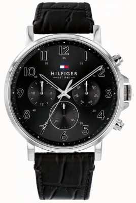 Tommy Hilfiger | reloj daniel de cuero negro para hombre | 1710381