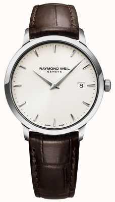 Raymond Weil | Reloj de cuero marrón para hombre con tocata. 5488-STC-40001