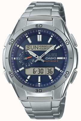 Casio | radio controlada mens | Reloj cronógrafo de titanio | WVA-M650TD-2A2ER