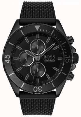 Boss | edición de mens ocean | esfera negra | correa negra | 1513699
