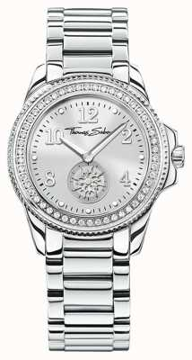 Thomas Sabo El | reloj de acero inoxidable glam & soul para mujer | esfera plateada | WA0235-201-201-33