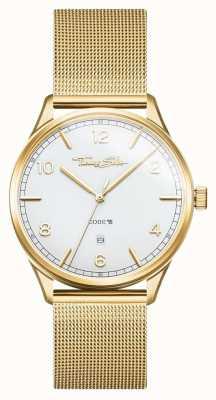 Thomas Sabo | pulsera de malla de acero inoxidable dorado | esfera blanca | WA0340-264-202-40