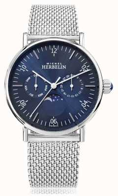Michel Herbelin Montre inspiration moonphase correa de malla inoxidable esfera azul 12747/AP15B