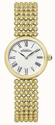 Michel Herbelin Dial de perla chapado en oro de 27 mm para mujer 17483/BP08