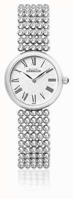 Michel Herbelin Dial de perlas de acero inoxidable para mujer de 27 mm. 17483/B08