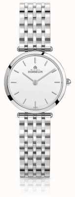 Michel Herbelin | mujer | epsilon | pulsera de acero inoxidable | esfera blanca | 17116/B11