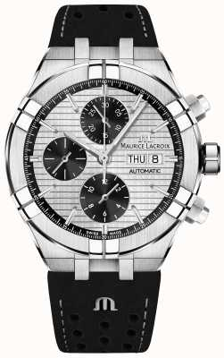 Maurice Lacroix Aikon cronógrafo automático dial panda negro correa negra AI6038-SS001-132-1
