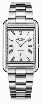 Rotary | brazalete de acero inoxidable | esfera blanca | GB05280/01
