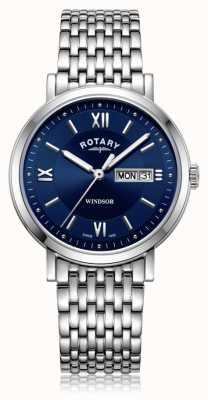 Rotary | brazalete de acero inoxidable | esfera azul | GB05300/66