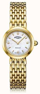 Rotary | pulsera de oro para mujer | esfera madre perla LB00900/41/D