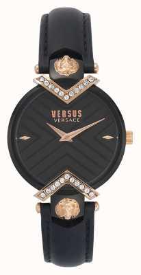 Versus Versace | correa de cuero negro damas | VSPLH1419