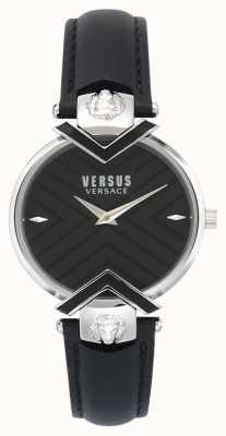 Versus Versace El | correa de cuero negro para mujer | VSPLH0119
