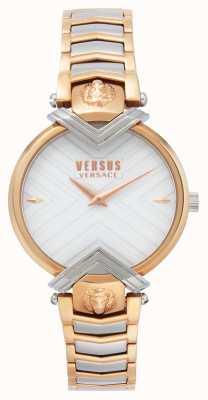 Versus Versace El | señoras pulsera de dos tonos | esfera blanca | VSPLH0719