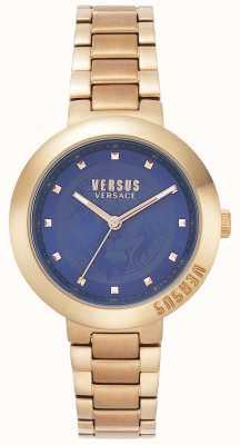 Versus Versace Pulsera de mujer en oro rosa | esfera azul | VSPLJ0819