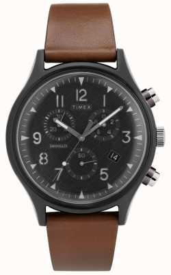 Timex | supernova de acero mk1 crono | reloj de cuero | TW2T29600D7PF