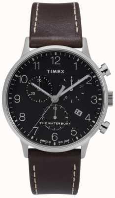 Timex | cronógrafo clásico de waterbury para hombre | esfera negra | TW2T28200D7PF