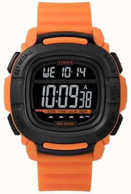 Timex | Impulso de choque naranja y negro digital | TW5M26500SU