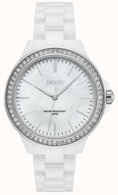 Boss | pulsera de mujer blanca | esfera blanca | 1502454