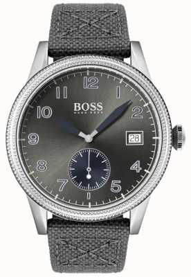 Boss | correa de lona gris para hombre | reloj legado | 1513683