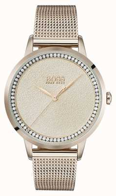 Hugo Boss | pulsera de malla dorada rosa pálido | 1502464
